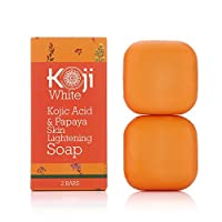 Kojic Acid & Papaya Whitening Soap (2.82 oz / 2 Bars) - with Hyaluronic Acid for Smooth Face & Body, Dark Spot Elimination for Freckles, Acne Scars, Uneven Skin Tone