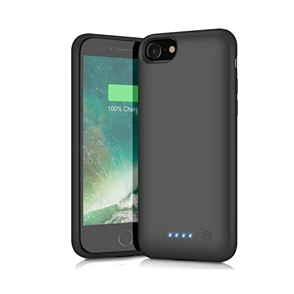 Black Upgraded Charging Case Protective Portable Charger Case Rechargeable Extended Battery Pack for Apple iPhone 7//8 Xooparc Battery case for iPhone 8//7 6000mah Backup Power Bank Cover 4.7/'