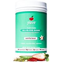 Yuve Vegan Protein Powder with Superfoods - Award Winning Taste - Complete Nutritional Shake - Natural Greens, Plant Based, Non-GMO, Gluten, Dairy, Soy and Lactose Free - Large Tub (Vanilla)