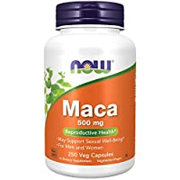 NOW Supplements, Maca (Lepidium meyenii) 500 mg, For Men and Women, Reproductive Health*, 250 Veg Capsules
