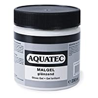 Honsell Aquatec Glossy Paint Gel 250 ml Can for Fine Relief Structures and Collages Dries Transparent and Permanently Elastic for More Volume, Colourful