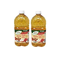 Simply Nature Organic 100% Juice + Vitamin C from Concentrate Apple Juice - 2 Count (64 oz.)