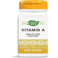 Nature's Way Vitamin A, 3,000 mcg per serving, 100 Softgels