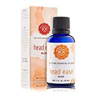 Woolzies Head Ease Essential Oil Blend, Natural Pure Undiluted Therapeutic Grade for Natural Headache, Migraine Relief, Aromatherapy, Therapeutic Grade 1 Fl Oz (30 ML)