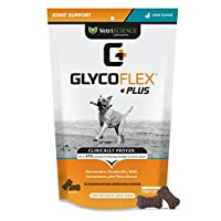 VetriScience Laboratories GlycoFlex Plus, Hip and Joint Supplement for Dogs, 120 Bite-Sized Chews