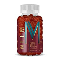 WEEM Apple Cider Vinegar Gummies - Natural, Vegan ACV with Folic Acid- Gluten Free - Vitamin B9, B12 - Premium Detox & Weight Supplement- Helps Digestion for Women and Men
