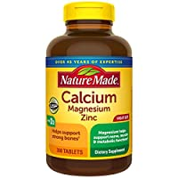 Nature Made Calcium, Magnesium & Zinc w. Vitamin D Tablets Value Size 300 Ct