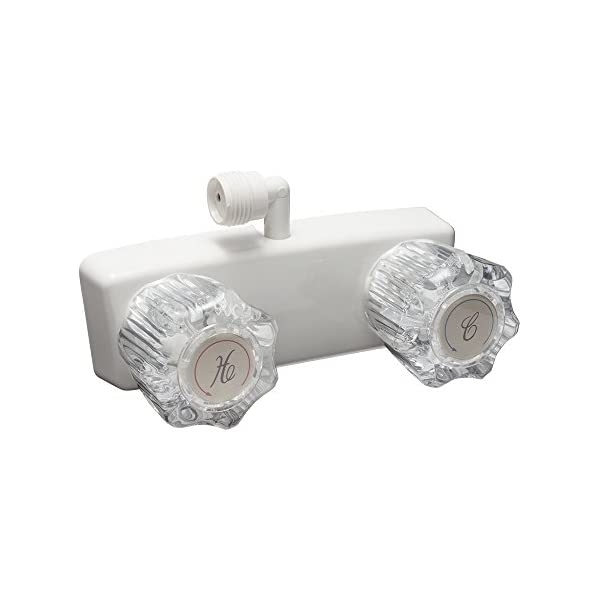 Travel Trailer Towable Motor Home Chrome Finish- For: Recreational Vehicle 5th DF-SA100A-CP Dura Faucet Camper Fifth RV//Motorhome Shower Faucet Valve Diverter Wheel