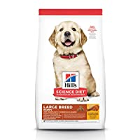 Hill's Science Diet Dry Dog Food, Puppy, Large Breeds, Chicken Meal & Oats Recipe, 30 lb Bag (9377)
