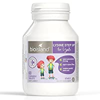 Bio Island Lysine Step Up for Youth 60 Chewable Tablets (Australia Import)
