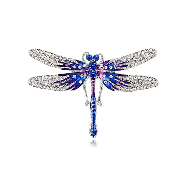 Mrsrui Fashion Natural Insect Animal Enamel Brooches Alloy Pins Vintage Jewelry for Women