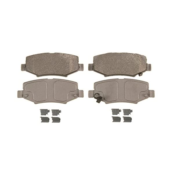 Rear Wagner ThermoQuiet MX1112 Semi-Metallic Disc Pad Set With Installation Hardware