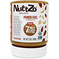 NuttZo Organic Smooth Paleo Power Fuel Seven Nut & Seed Butter, 12 Ounce