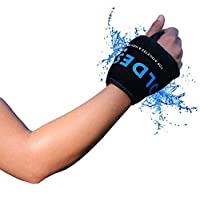 The Coldest Wrist Ice Pack Hand Support Reusable Flexible - Best Cold Therapy Relief for Rheumatoid Arthritis, Tendinitis, Carpal Tunnel Pain, Injuries, Swelling, Bruises and Pain (Wrist Ice Pack)…