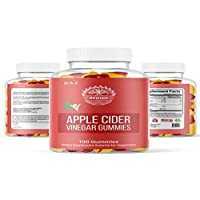 Nature's 100 Pure Apple Cider Vinegar Gummies From Raw, Organic , Unfiltered ACV Gummies For Weight Loss Detox, Cleanse, No Harsh After Taste Like Liquid, Pills, Capsules Mother ACV Gummy Dr A-Z