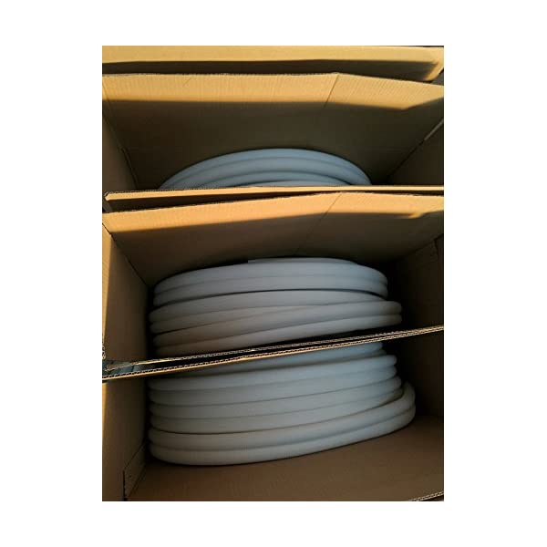 Refrigerant Seamless Pipe Tube for HVAC 1//2 Black Insulation 5//8 Insulated Copper Coil Line 50 Long