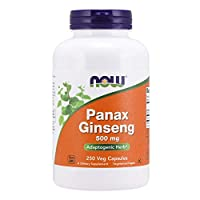 NOW Supplements, Panax Ginseng 500 mg, 250 Capsules