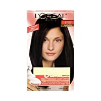 L'Oreal Paris Excellence Creme Permanent Hair Color, 3 Natural Black, 100% Gray Coverage Hair Dye, Pack of 1