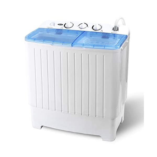 Mini Compact Twin Tub Washing Machine Washer 13lbs Spin Spinner Gray /& White New