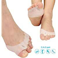 Metatarsal Pads Toe Separators Ball of Foot Cushions- Soft Gel Ball of Foot Pads - Mortons Neuroma Callus Metatarsal Foot Pain Relief Bunion Forefoot Cushioning Relief Women Men