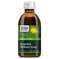 Gaia Herbs Bronchial Wellness Herbal Syrup, Soothing Support for Throat and Respiratory Health with Eucalyptus Essential Oil, 5.4 Ounce