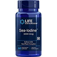 Life Extension Sea-Iodine Capsules, 1000 mcg, 60 Count, Package may vary
