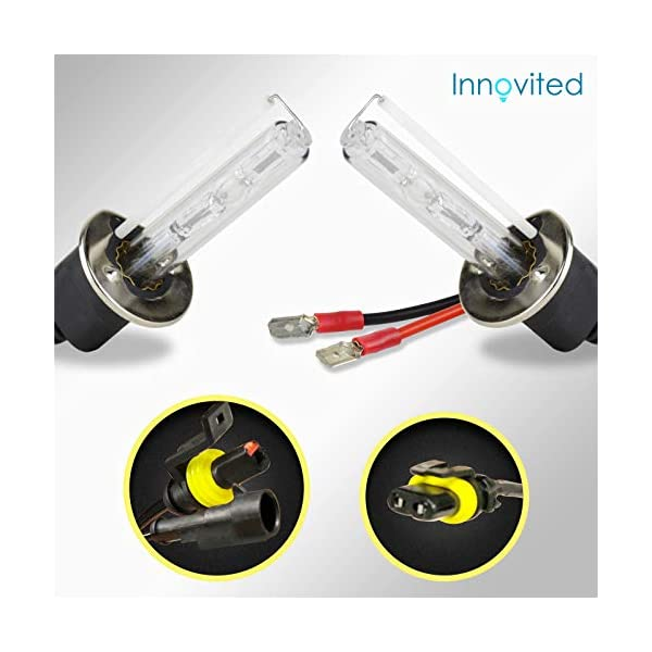 Diamond White 2 Year Warranty Innovited 35W AC Xenon HID LightsAll Bulb Sizes and Colors with Slim Ballast H13-3 9008-6000K Bi xenon HI//LO
