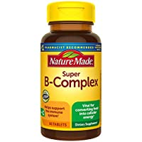 Nature Made Super B-Complex Tablets, 60 Count for Metabolic Health† (Packaging May Vary) (2734)