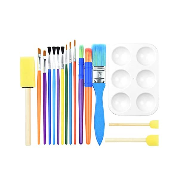 Set of 15 Artists Assorted Paint Brushes Oil Acrylic Watercolour Paintbrushes