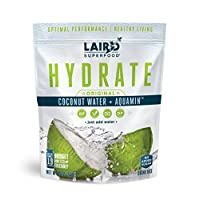 Laird Superfood Hydrate Coconut Water Original - Electrolyte Powder Hydration Drink Mix, 8oz Bag