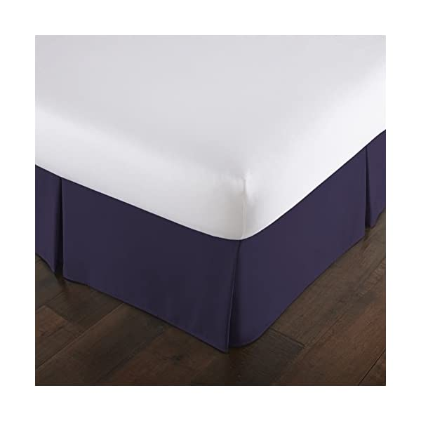 Steel Blue King Teal Southshore Fine Linens VILANO Springs 15 inch Drop Pleated Bed Skirt