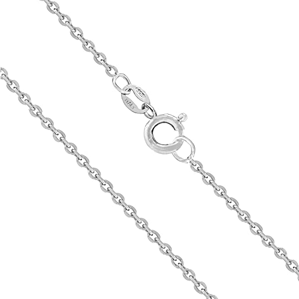 KEZEF Creations Sterling Silver Italian Round Snake Chain Necklace 0.8 mm