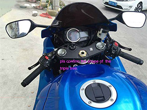Keychain and Triple Tree Front End Upper Top Clamp Fuel Cap Decal Stickers for GSXR 600 GSXR 750 GSXR 1000 K6 K7 K8 K9 L1 2006-2017 REVSOSTAR Real Carbon Look Gas Cap 3 Pcs Per Set