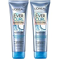 L'Oréal Paris Hair Care EverCurl Sulfate Free Shampoo & Conditioner Kit, Hydrates + Softens, With Coconut Oil, For Curly Hair (8.5 Fl. Oz each)