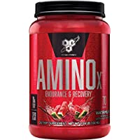 BSN Amino X Muscle Recovery & Endurance Powder with BCAAs, 10 Grams of Amino Acids, Keto Friendly, Caffeine Free, Flavor: Watermelon, 70 Servings (Packaging May Vary)