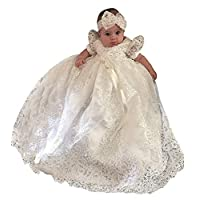 Christening Gown Baby Girl Lace Toddler Dress for Age 3-24 months