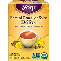 Yogi Tea - Roasted Dandelion Spice DeTox (4 Pack) - Healthy Cleansing Formula - 64 Tea Bags