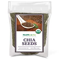 Healthworks Chia Seeds Organic Raw (48 Ounces / 3 Pounds) | Certified Organic, Premium & All-Natural | Contains Omega 3, Fiber & Protein | Great with Shakes, Smoothies & Oatmeal