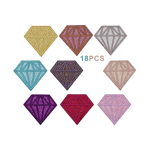 Assorted Color 12pcs 5 Star Iron on Patches Embroidered Appliques Decorative Repair Motif DIY Sew on Patches for Clothing