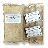 G&T Country Living Cricket & Dubia Roach Colony Starter Kit - Includes 6 Egg Flats, Premium Dubia Roach Chow Cricket Food (2 lbs), 2 Water Gel Granules (1 oz) | Raise Dubia Roaches Crickets