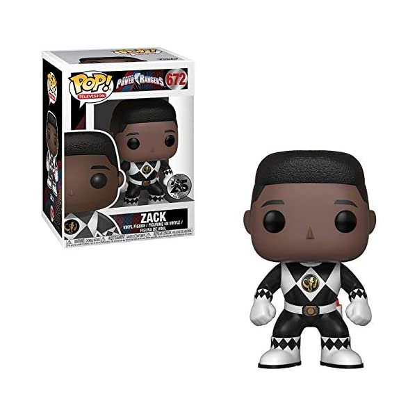 TV: Mighty Morphin Power Rangers Zack Black Ranger Funko Pop No Helmet Bundled with Pop Box Protector Case Vinyl Figure