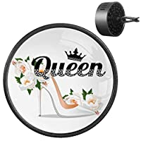 With Vent Clip Personalized Essential Oils Kit Air Freshener Car Diffuser Aromatherapy 2PCS Queen Slogan With Rhinestone And Branch Pretty Shoe With Crystal Flower