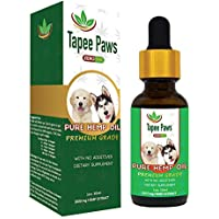 Tapee Paws Hemp Oil for Dogs and Cats 1000mg - Pain Relief, Calming, Fights Cancer, Remedies - Arthritis, Stress, Seizures, Muscle Spasms, Epilepsy, Separation Anxiety, Itching & Skin Allergies