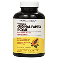 American Health Original Papaya Enzyme Chewable Tablets - Promotes Nutrient Absorption and Helps Digestion - Gluten-Free, Vegetarian - 600 Count, 200 Total Servings