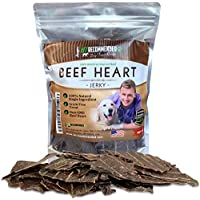 Vet Recommended Beef Heart Jerky for Dogs (8oz Bag) - Natural Source of Taurine Dog Treat, Make Your Dog Healthy, Stronger and Happier. 100% Natural & USA Grown Beef