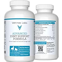 Glucosamine Joint Supplements for Dogs – Beef Flavored, Chewable Tablets with Chondroitin and MSM, For Large & Small Dogs, Vet Approved (120 Count), By Vetrinex Labs