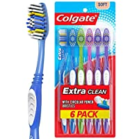 Colgate Extra Clean Toothbrush, Full Head, Soft - 6 Count