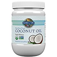 Garden of Life Organic Extra Virgin Coconut Oil - Unrefined Cold Pressed Coconut Oil for Hair, Skin and Cooking, 29 Ounce