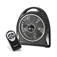 Holmes 12-Inch Fan   Blizzard Rotating Fan with Remote Control, Black