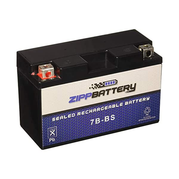 Maintenance Free YT7B-BS High Performance Sealed AGM Motorcycle Battery
